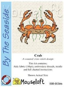 Mouseloft Crab By The Seaside cross stitch kit